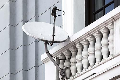 antena parabolica balcon