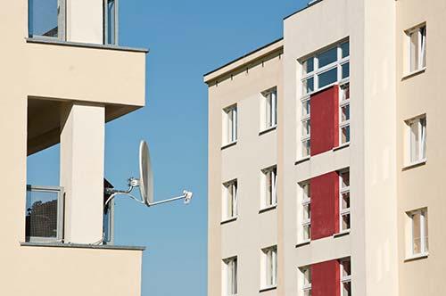 antena parabolica vivienda comunidad de vecinos